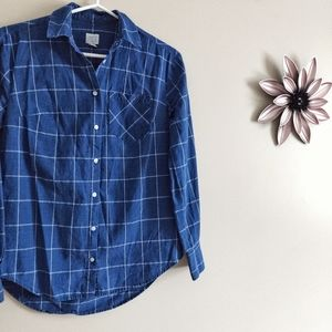 a new day Tops - 5/$30 |  A New Day Blue Plaid Shirt XS